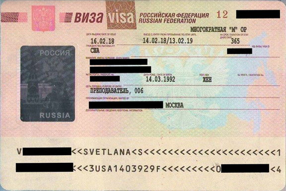 Russian Visa For Teacher